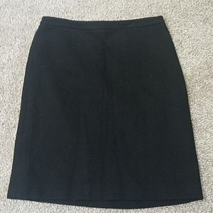Banana Republic Black Wool Woven Pattern Skirt